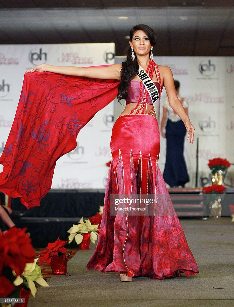 Miss Sri Lanka Sabrina Herft walks the runway as part of the 2012 Miss Universe Pageant's Official Welcome Event at Planet Hollywood Resort and Casino on December 6, 2012 in Las Vegas, Nevada.