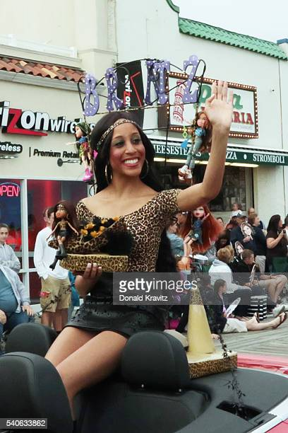 Miss Stars and Stripes Krystle Tomlinson takes part in the Miss New Jersey In Toyland Parade at Ocean City New Jersey Boardwalk on June 15 2016 in...