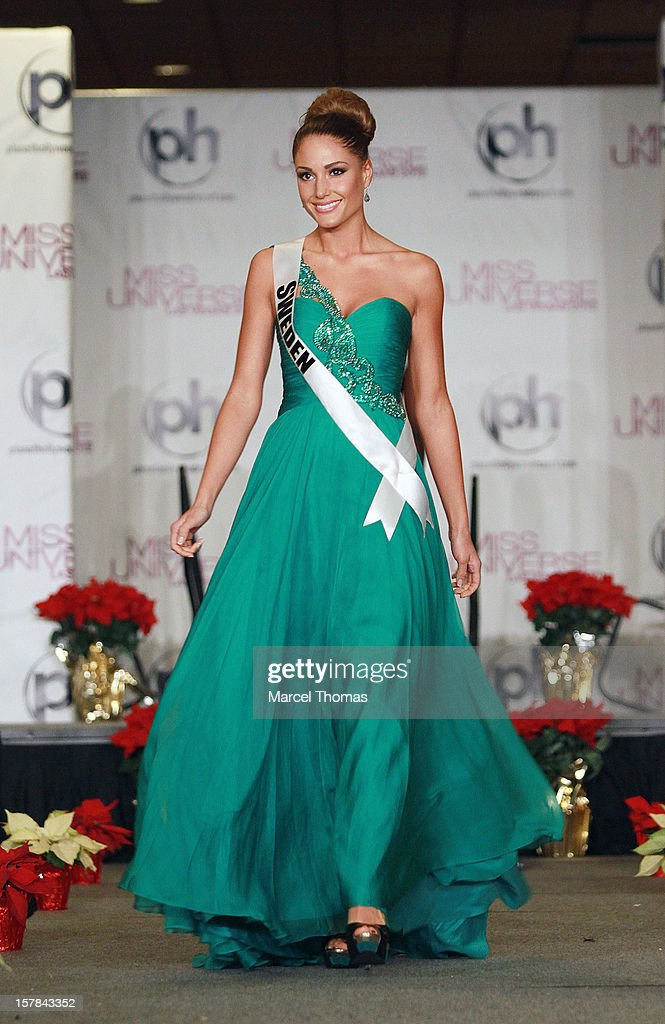 Miss Sweden Hanni Beronius walks the runway as part of the 2012 Miss Universe Pageant's Official Welcome Event at Planet Hollywood Resort and Casino on December 6, 2012 in Las Vegas, Nevada.
