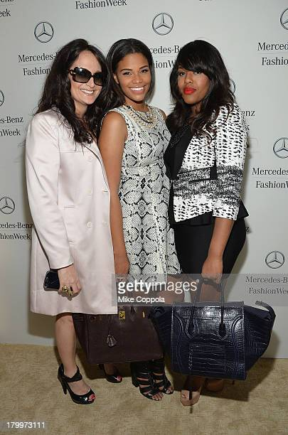 Miss Teen USA 2010 Kamie Crawford and Neoeny Oh attend MercedesBenz Fashion Week Spring 2014 at Lincoln Center on September 7 2013 in New York City