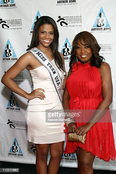 Miss Teen USA 2010 Kamie Crawford and TV personality Star Jones attend the 2011 Arthur Ashe Institute for Urban Health's Sports Ball at Chelsea Piers...