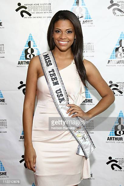 Miss Teen USA 2010 Kamie Crawford attends the 2011 Arthur Ashe Institute for Urban Health's Sports Ball at Chelsea Piers on April 14 2011 in New York...