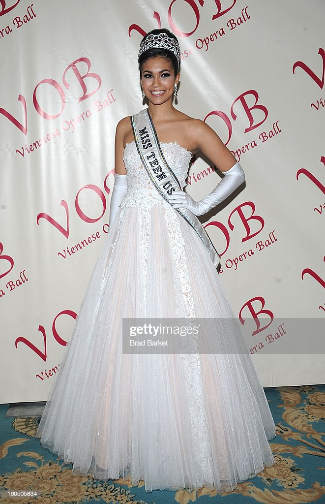 Miss Teen USA 2012 Logan West attends The 58th Annual Viennese Opera Ball at The Waldorf=Astoria on February 1, 2013 in New York City.