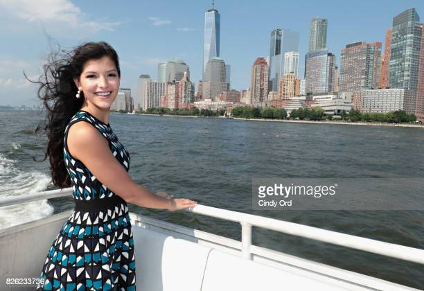 Miss Teen USA 2017 Sophia DominguezHeithoff attends the CitySightseeing Media Cruise at Pier 78 on August 3 2017 in New York City