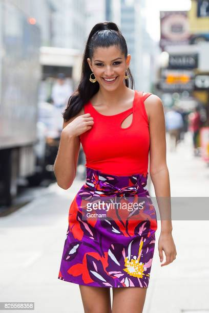 Miss Teen USA 2017 Sophia DominguezHeithoff is seen in Midtown on August 2 2017 in New York City