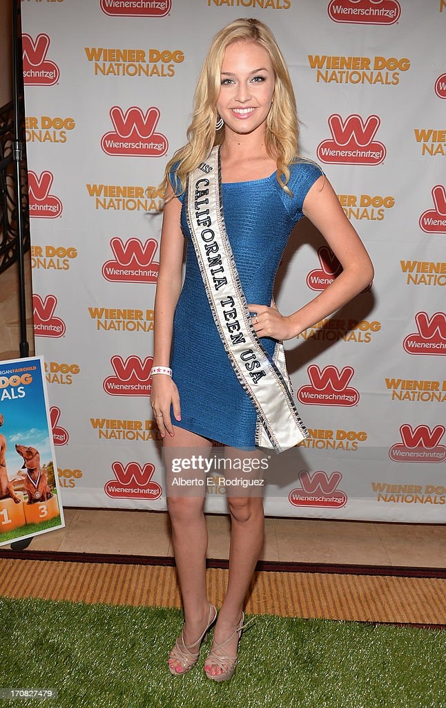Miss Teen USA California Cassidy Wolf arrives to the Premiere of 'Wiener Dog Nationals' at Pacific Theatre at The Grove on June 18, 2013 in Los Angeles, California.