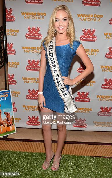 Miss Teen USA California Cassidy Wolf arrives to the Premiere of 'Wiener Dog Nationals' at Pacific Theatre at The Grove on June 18 2013 in Los...