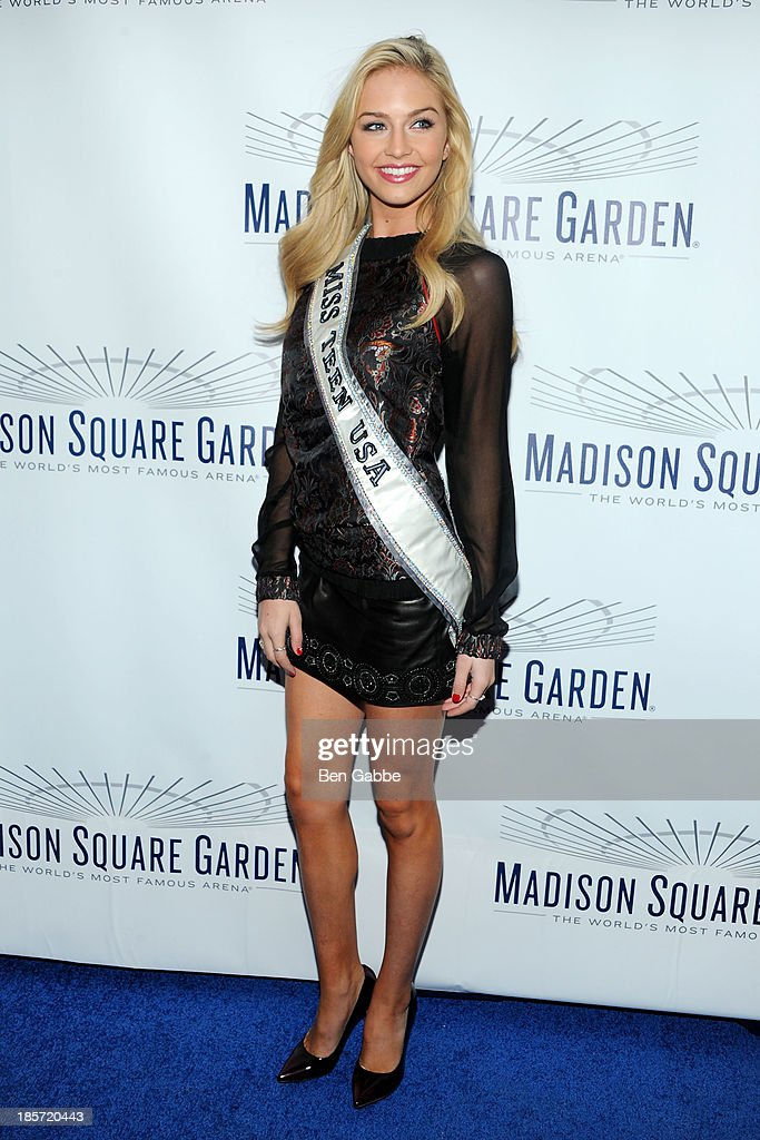 Miss Teen USA Cassidy Wolf attends the Madison Square Garden Transformation Unveiling at Madison Square Garden on October 24, 2013 in New York City.
