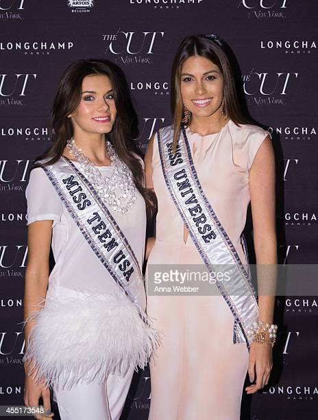 Miss Teen USA K Lee Graham and Miss Universe Gabriela Isler arrive to New York Magazine The Cut Fashion Week Party at The High Line on September 9...