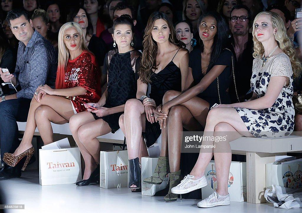 YORK NY SEPTEMBER 06 Miss Teen USA K Lee Graham and Miss Universe Gabriela Isler attend Malan Breton during MercedesBenz Fashion Week Spring 2015 at...