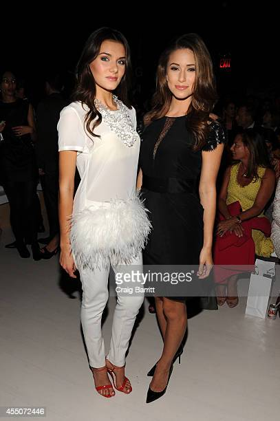 Miss Teen USA K Lee Graham and Miss USA Nia Sanchez attend the Zang Toi fashion show during MercedesBenz Fashion Week Spring 2015 at The Salon at...