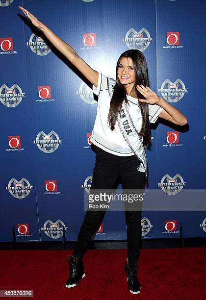 Miss Teen USA K Lee Graham attend Marvel Universe LIVE NYC World Premiere on August 13 2014 in New York City