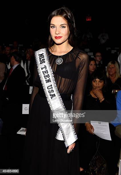 Miss Teen USA K Lee Graham attends the Meskita fashion show during MercedesBenz Fashion Week Spring 2015 on September 4 2014 in New York City