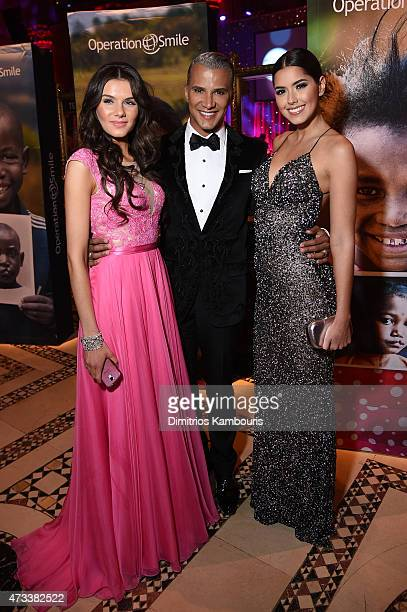 Miss Teen USA K Lee Graham Jay Manuel and Miss Universe Paulina Vega appear at the 13th Annual Operation Smile Event Hosted By Kate Walsh With...
