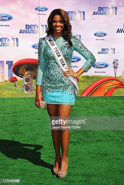 Miss Teen USA Kamie Crawford arrives at the BET Awards '11 held at the Shrine Auditorium on June 26 2011 in Los Angeles California