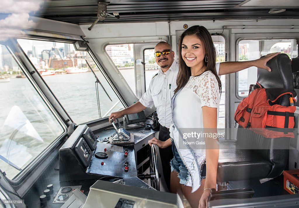 Miss Teen USA Katherine Haik attends a CitySightseeing cruise to the Statue of Liberty on August 27, 2015 in New York City.