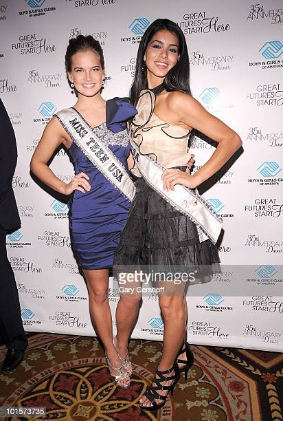 Miss Teen USA Stormi Bree Henley and Miss USA Rima Fakih attend the 2010 Boys and Girls Clubs of America's Chairman's Gala at The Waldorf Astoria on...