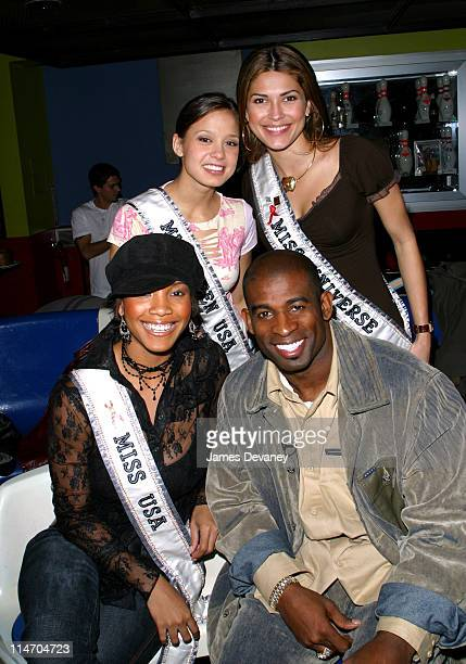 Miss Teen USA Vanessa Marie Semrow Celebrates her 18th birthday with Miss Universe Justine Pasek Miss USA Shauntay Hinton and Deion Sanders