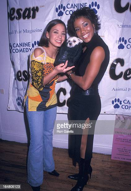 Miss Teen USA Vanessa Semrow and Miss USA 2002 Shauntay Hinton attend the Animal Fair Magazine's Third Annual Canine Comedy to Benefit Stray from the...