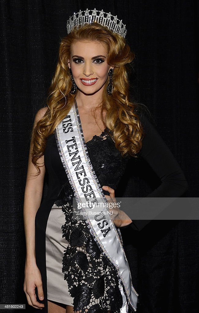 Miss Tennessee USA Kristy Landers Niedenfuer attends Playin' Possum! The Final No Show Tribute To George Jones at Bridgestone Arena on November 22, 2013 in Nashville, Tennessee.