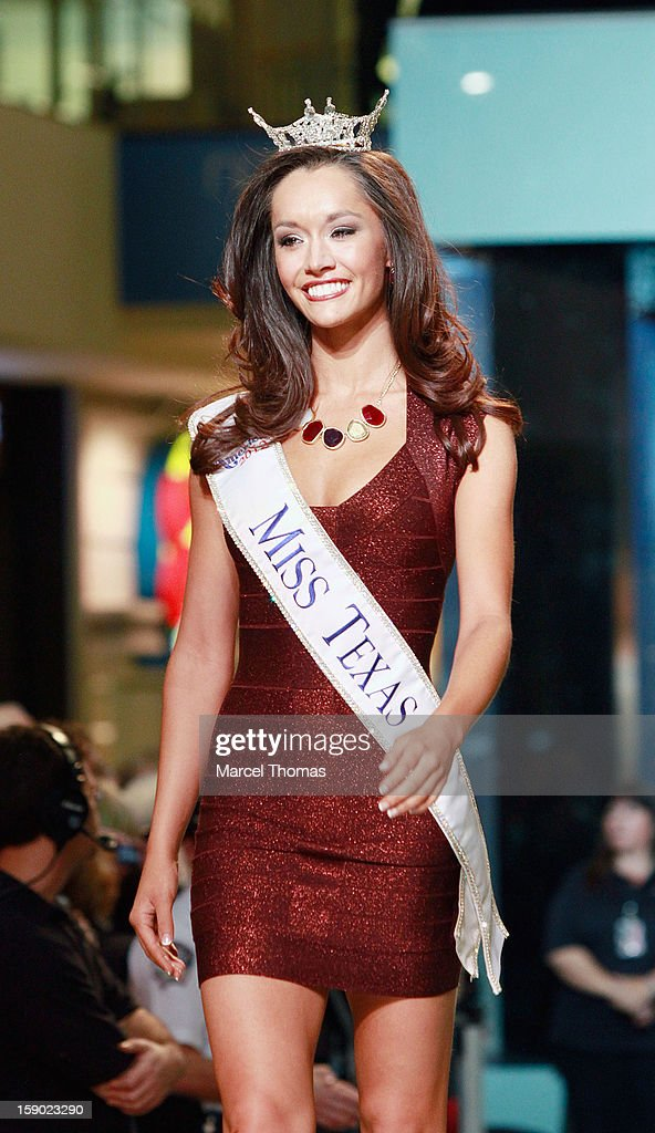 Miss Texas DaNae Couch is introduced at the 2013 Miss America Pageant meet and greet fashion show at the Fashion Show mall on January 5, 2013 in Las Vegas, Nevada.