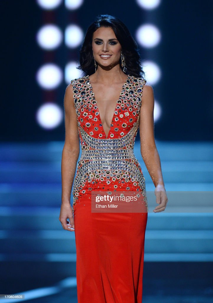 Miss Texas USA Alexandria Nichole Nugent competes in the evening gown competition during the 2013 Miss USA pageant at PH Live at Planet Hollywood Resort & Casino on June 16, 2013 in Las Vegas, Nevada.