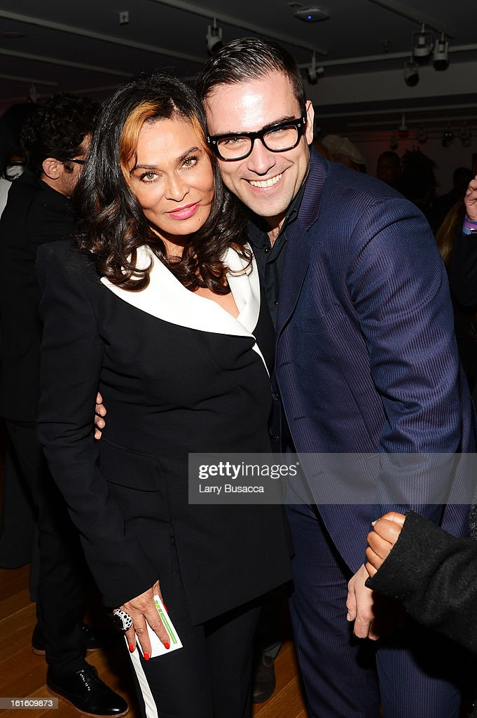 Miss Tina and designer Rubin Singer attend the after party following the premiere of the HBO Documentary Film 'Beyonce: Life Is But A Dream' at Christie's on February 12, 2013 in New York City.
