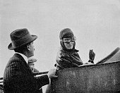 Miss TrehawkeDavies in the passenger's seat of one of her Bleriot monoplanes 1913 Eleanor Josephine Trehawke Davies was an English aviator and the...