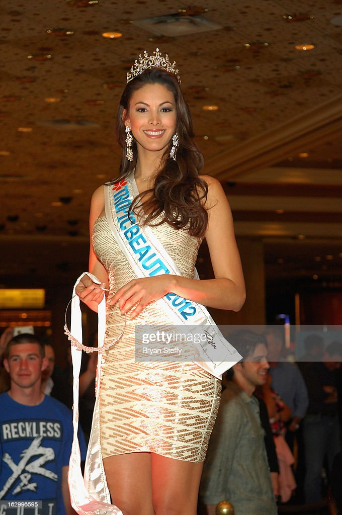 Miss TropicBeauty 2012, Ligia Hernandez appears at the third annual TropicBeauty World Finals at the MGM Grand Hotel/Casino on March 2, 2013 in Las Vegas, Nevada.