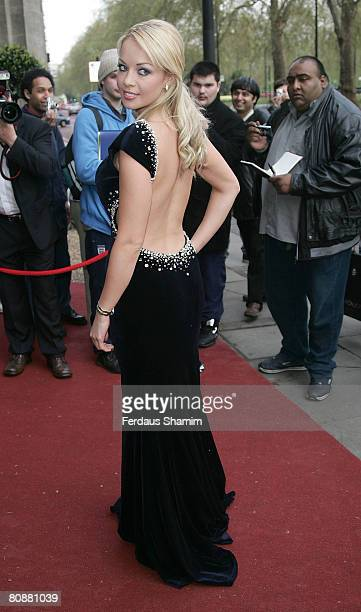Miss UK Gemma Garrett attends the Professional Footballers Association Awards at the Grosvenor House Hotel on April 27 2008 in London England