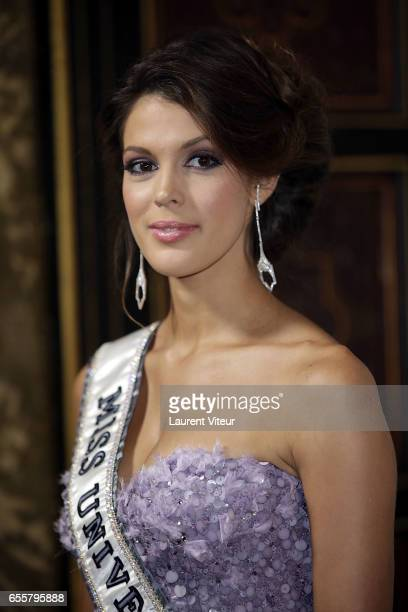 Miss Univers 2017 Iris Mittenaere attends 'Les Bonnes Fees' Charity Gala at Hotel D'Evreux on March 20 2017 in Paris France