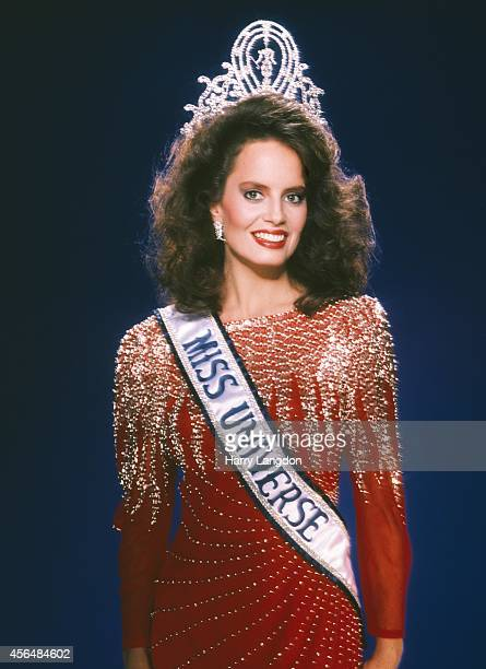 Miss Universe 1987 Cecilia Bolocco poses for a portrait in 1987 in Los Angeles California