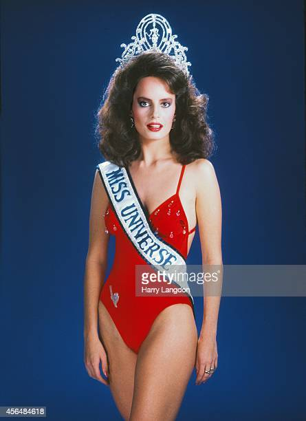 Miss Universe 1987 Cecilia Bolocco poses for a portrait in 1987 in Los Angeles California
