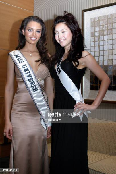 Miss Universe 2006 1st Runnerup Kurara Chibana of Japan and Miss Universe 2006 Zuleyka Rivera Mendoza