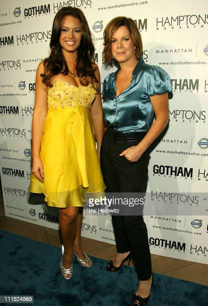 Miss Universe 2006 Zuleyka Rivera and Marcia Gay Harden at the Hamptons Gotham Magazine launch party for the new Manhattan Volvo September 27 2007 at...