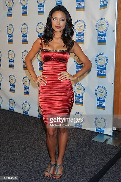 Miss Universe 2007 Rachel Smith arrives at the 19th Annual NAACP Theatre Awards held at the Directors Guild Of America on August 31 2009 in Los...