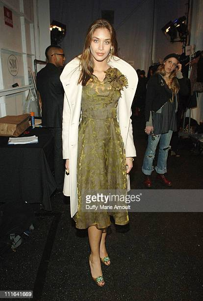 Miss Universe 2008 Dayana Mendoza attends Akiko Ogawa Fall 2009 during MercedesBenz Fashion Week at The Salon in Bryant Park on February 15 2009 in...