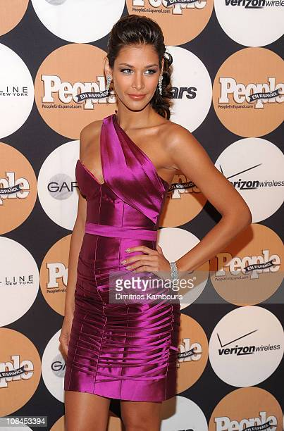 Miss Universe 2008 Dayana Mendoza attends People En Espanol's '50 Most Beautiful' event at The Edison Ballroom on May 13 2009 in New York City