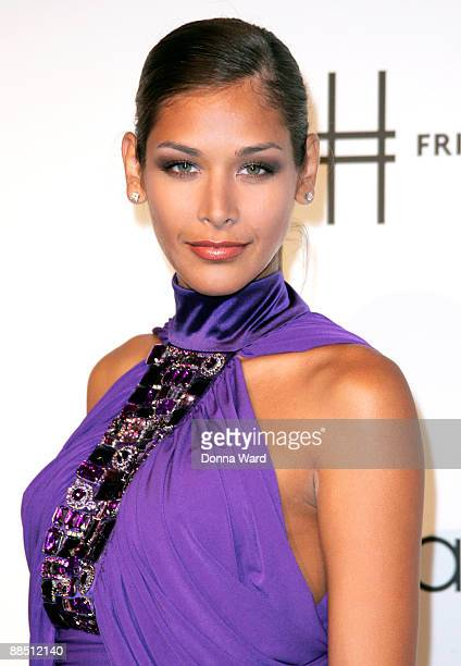 Miss Universe 2008 Dayana Mendoza attends the First Party on the High Line at High Line Park on June 15 2009 in New York City