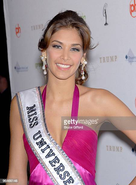 Miss Universe 2009 Dayana Mendoza arrives at 2009 Miss USA Pageant Red Carpet Arrivals at Planet Hollywood Resort Casino on April 19 2009 in Las...