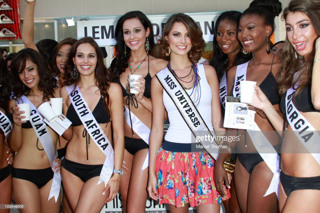 Miss Universe Contestants Visit Fashion Center Mall - Las Vegas, NV