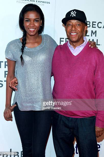Miss Universe 2011 Leila Lopes and Russell Simons attend 'Mansome' Premiere during the 2012 Tribeca Film Festival at the Borough of Manhattan...