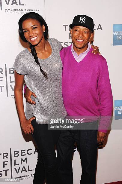 Miss Universe 2011 Leila Lopes and Russell Simons walk the red carpet at the World Premiere Of Morgan Spurlock's 'MANSOME' at the Tribeca Film...
