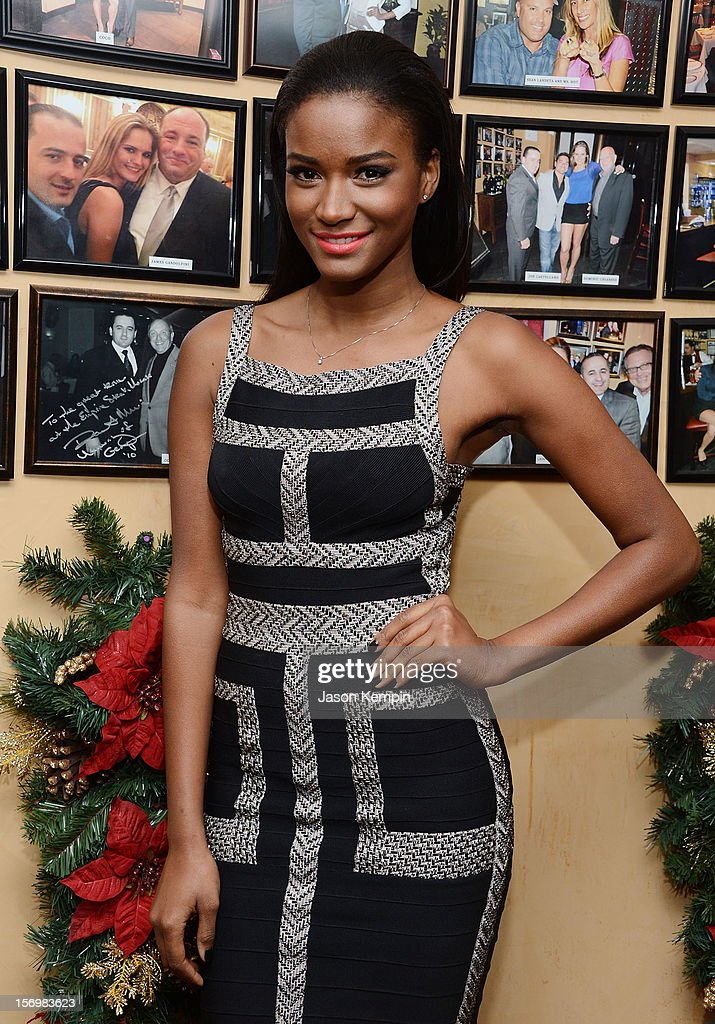 Miss Universe 2011 Leila Lopes attends the Miss Universe Farewell party at Empire Steak House on November 26 2012 in New York City