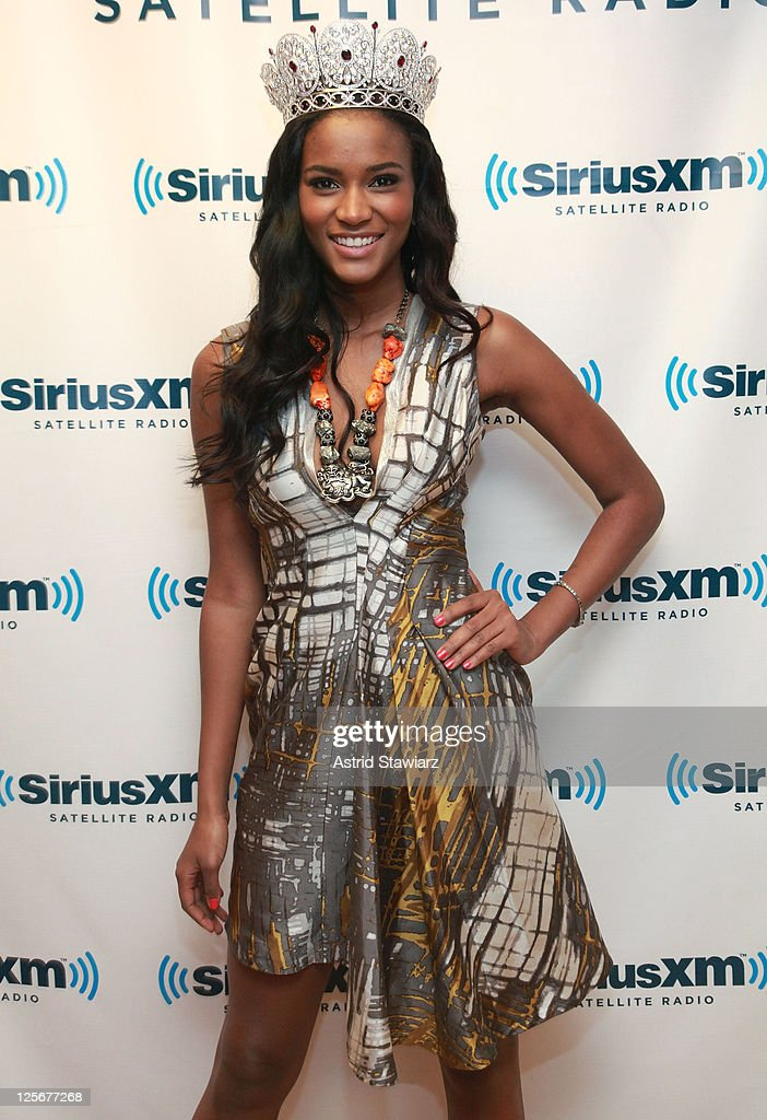 Miss Universe 2011 Leila Lopes visits the SiriusXM Studio on September 20 2011 in New York City