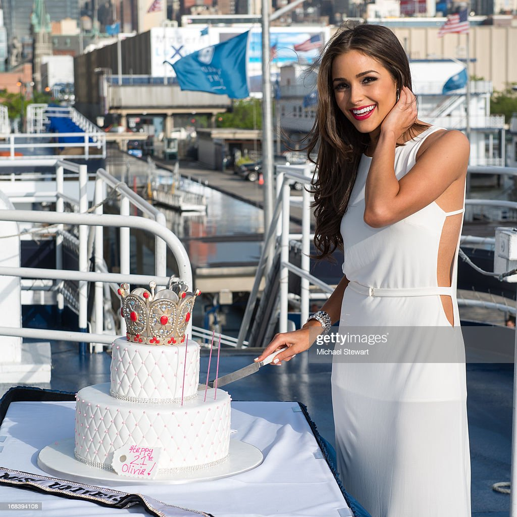Miss Universe 2012 <a gi-track='captionPersonalityLinkClicked' href=/galleries/search?phrase=Olivia+Culpo&family=editorial&specificpeople=9194131 ng-click='$event.stopPropagation()'>Olivia Culpo</a> attends her 21st Birthday Celebration at World Yacht - The Duchess on May 8, 2013 in New York City.