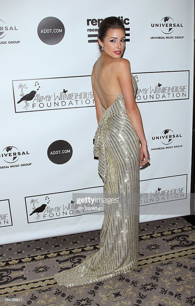 Miss Universe 2012 Olivia Culpo attends the 2013 Amy Winehouse Foundation Inspiration Awards and Gala at The Waldorf=Astoria on March 21, 2013 in New York City.