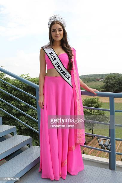 Miss Universe 2012 Olivia Culpo during an exclusive interview with Hindustan Times on September 27 2013 in New Delhi India Olivia Culpo 21yearold...
