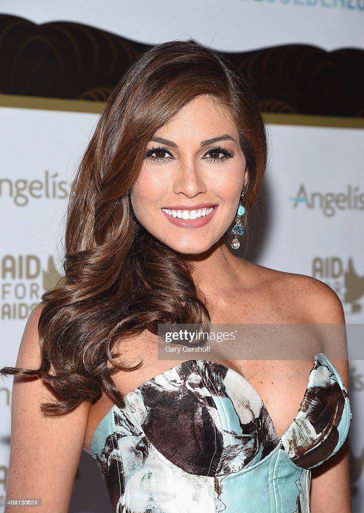 Miss Universe 2013 Gabriela Isler attends 'AID FOR AIDS 2014 My Hero Gala Metropolitan Museum of Art' at The Metropolitan Museum of Art on October 30...