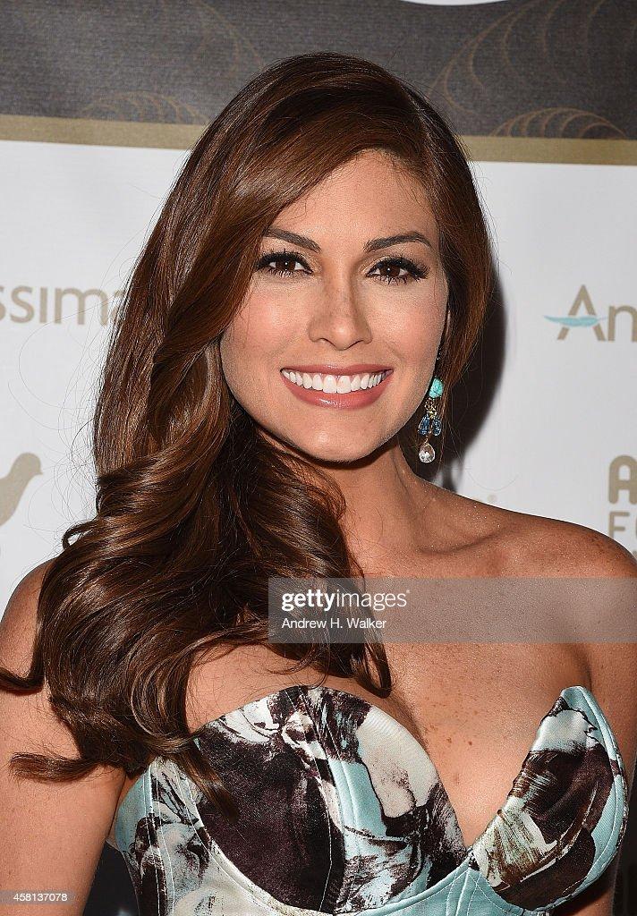 Miss Universe 2013 Gabriela Isler attends AID FOR AIDS 2014 My Hero Gala Metropolitan Museum of Art at The Metropolitan Museum of Art on October 30...
